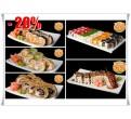 """Sushi - restoran """"Tokyo55"""". Soodukupongi."""